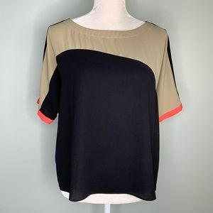 Rachel Rachel Roy Shirt Blouse Small Short Sleeve